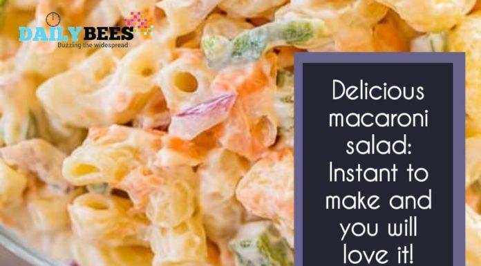 Classic macaroni salad - Daily Bees
